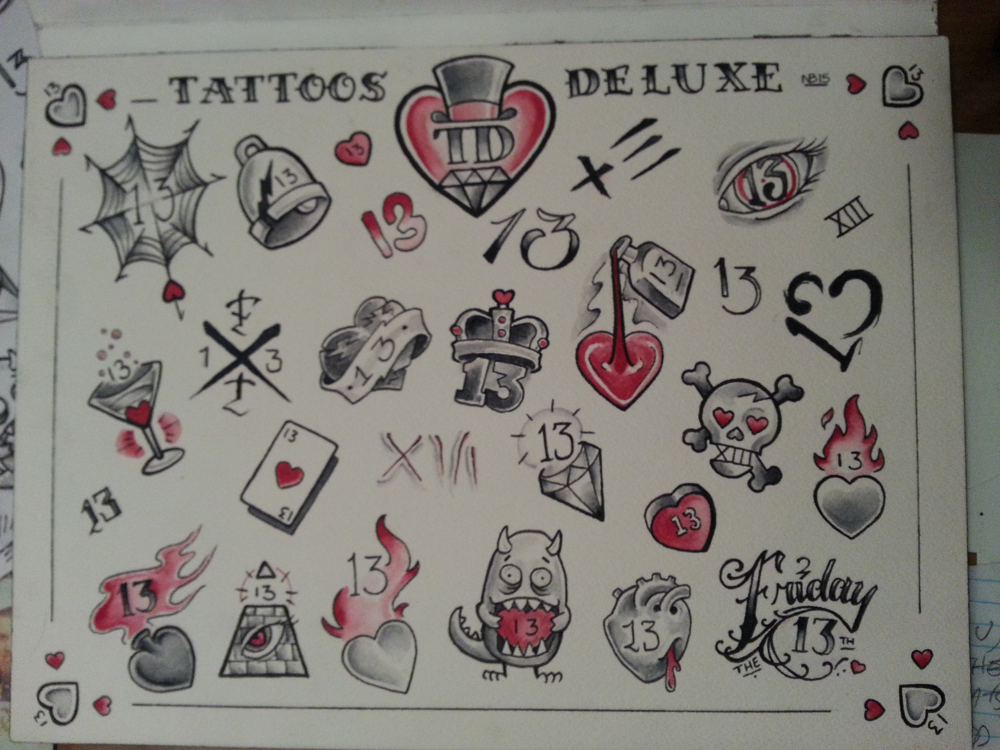 e31d34e15 Friday the 13th Valentine's Edition. Posted in Tattoo Artists ...